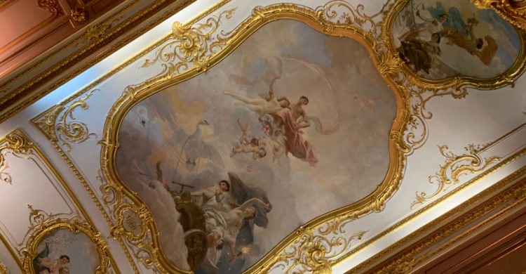 The ceilings in the Yusupovs Palace Theatre in Saint Petersburg, Russia