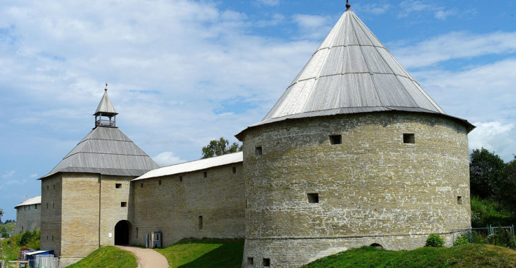 Fortress gate tower in Staraya (Old) Ladoga