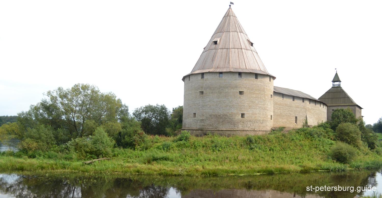 Old Ladoga (Staraya Ladoga) fortress. View from a river. Leningrad region
