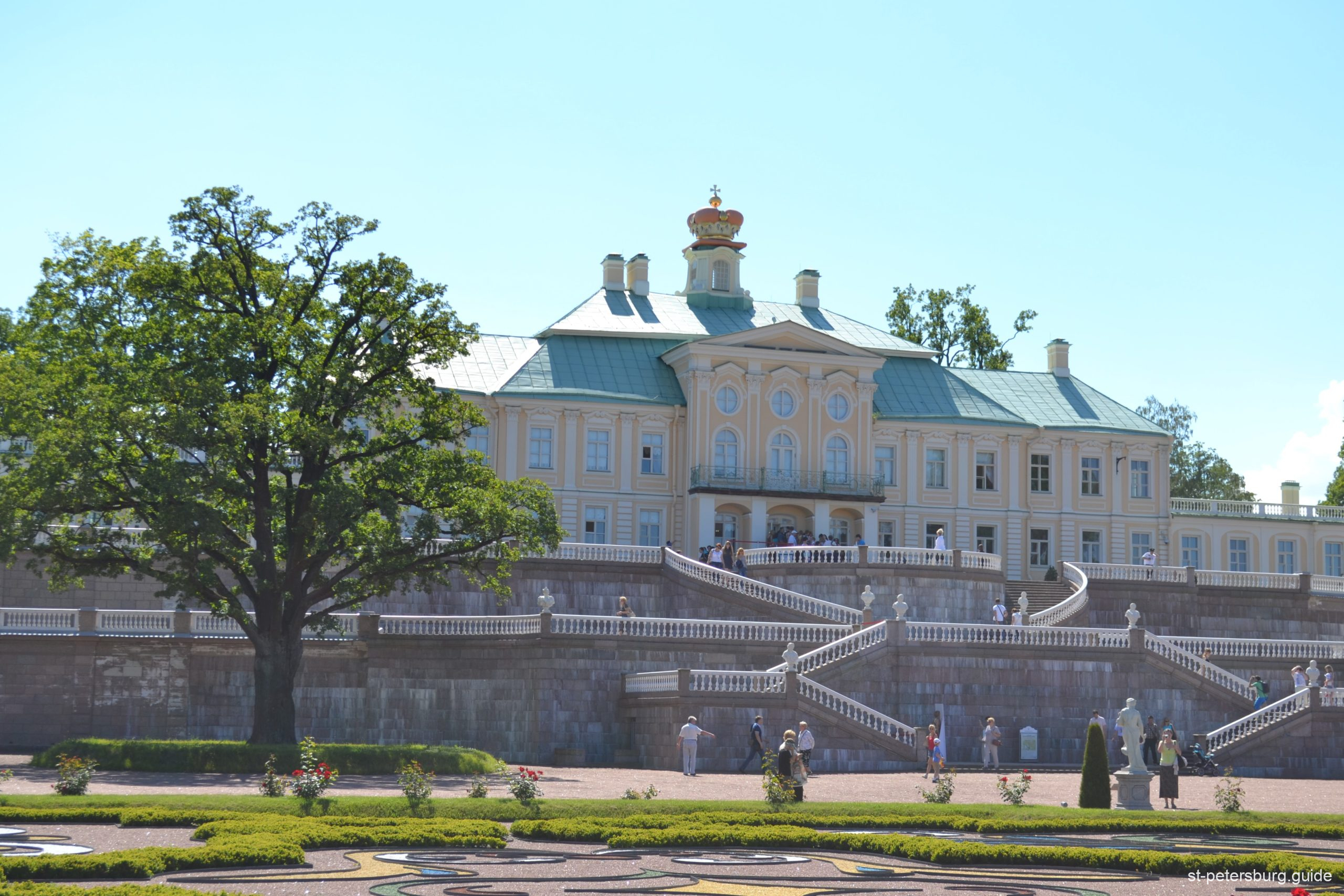 Panorama view on the palace in Oranienbaum