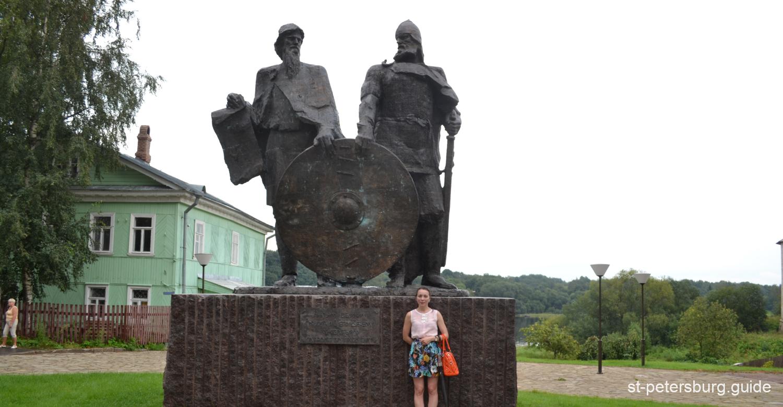 Rurikovich monument in Staraya Ladoga (Old Ladoga) in Leningrad region