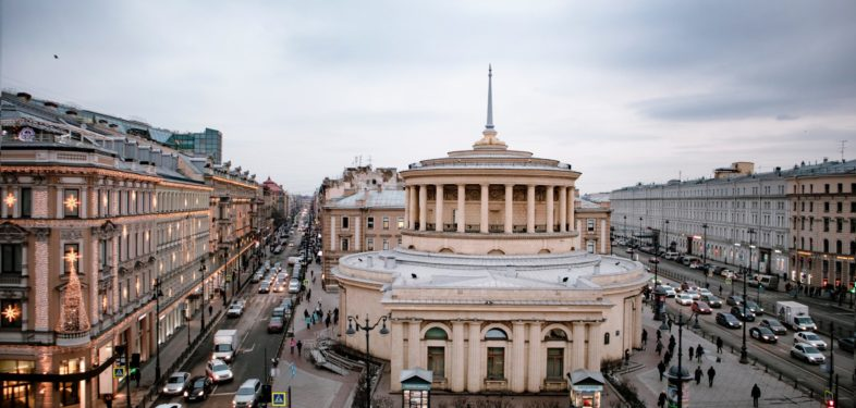 Urban architecture of Saint Petersburg, street view