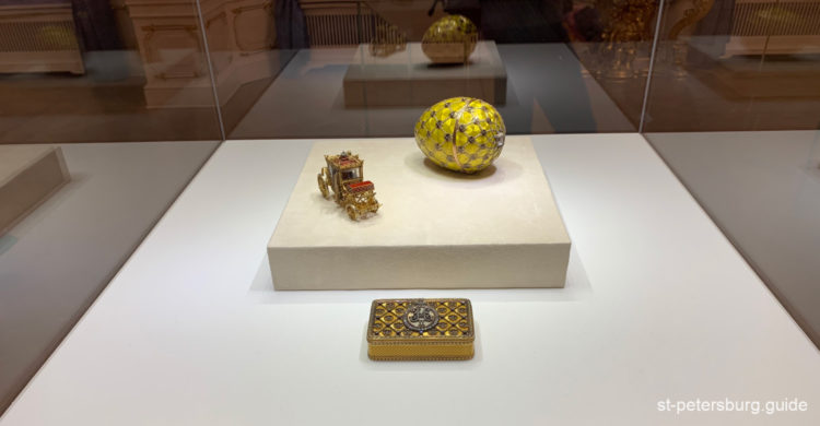 Imperial Easter egg in the Faberge museum, Saint Petersburg Russia