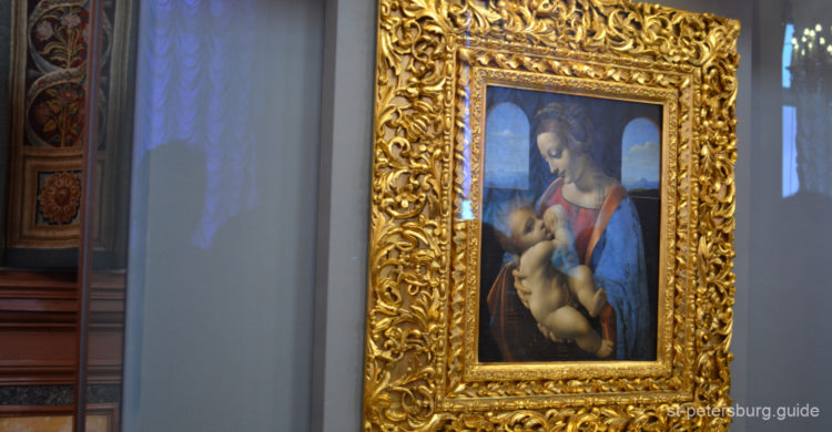 Madonna Litta by Leonardo da Vinci in the State Hermitage Museum. Saint Petersburg Russia