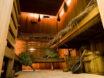 Interior of traditional Russian banya