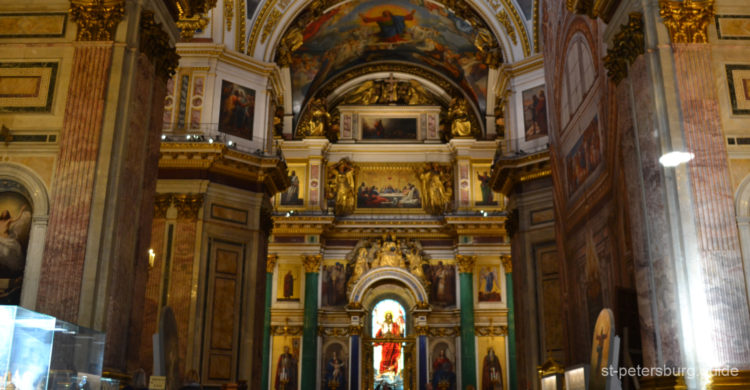 Iconostasis in St Isaac's Cathedral. Saint Petersburg Russia