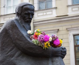 Monument to Fyodor Dostoevsky in St Petersburg