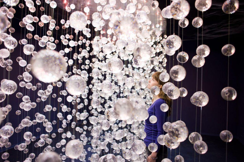 Cherry garden installation in Erarta Museum